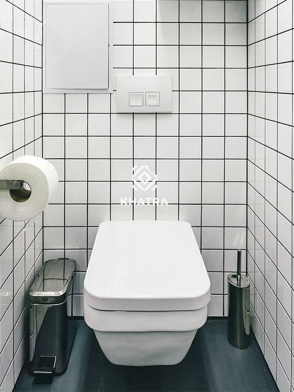 Gạch thẻ vuông trắng ốp tường