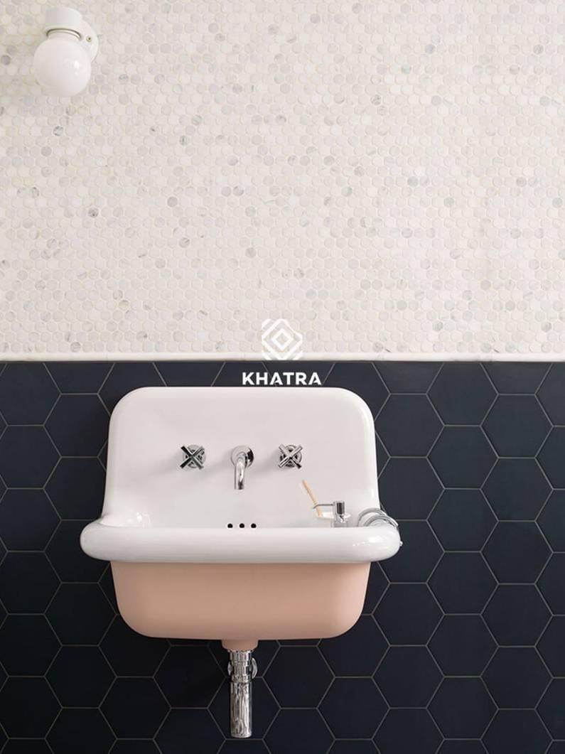 Phối lục giác và Mosaic ốp chân tường