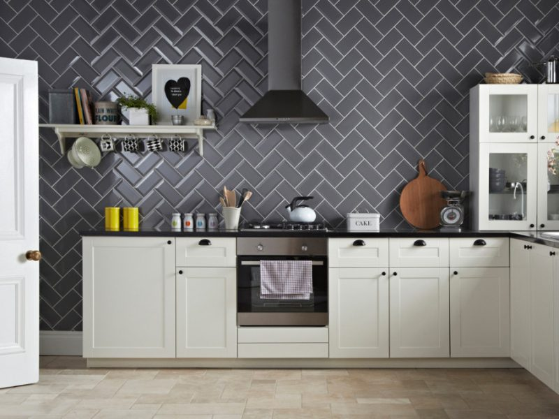 Gạch thẻ Grey 75x150 ốp bếp