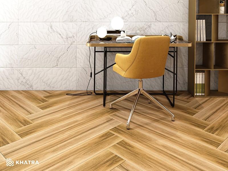 Gạch gỗ HL-82017 phối Y38178M