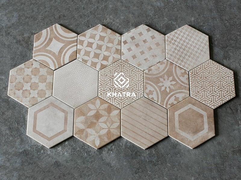 Gạch bông vàng KHA-3D010