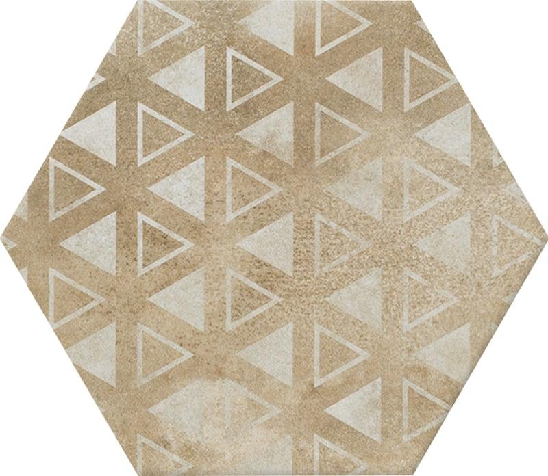 Viên gạch lục giác N23113 hoạ tiết tam giác