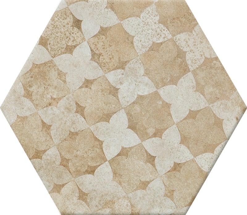 Viên gạch lục giác N23113 bông hoa