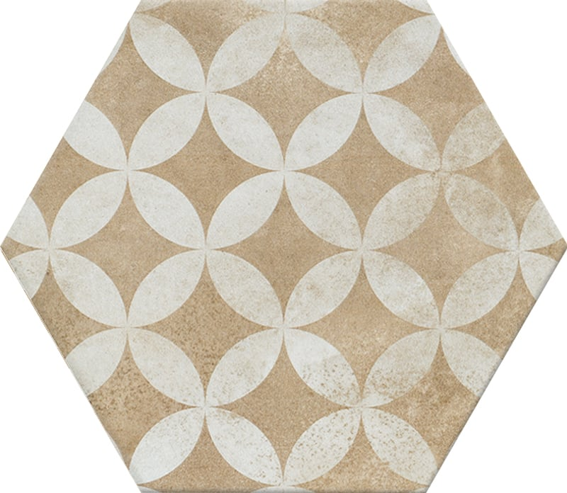 Gạch N23113 lục giác đồng xu