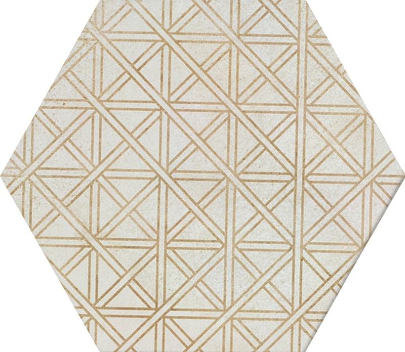 Gạch lục giác vàng N23113 ô vuông