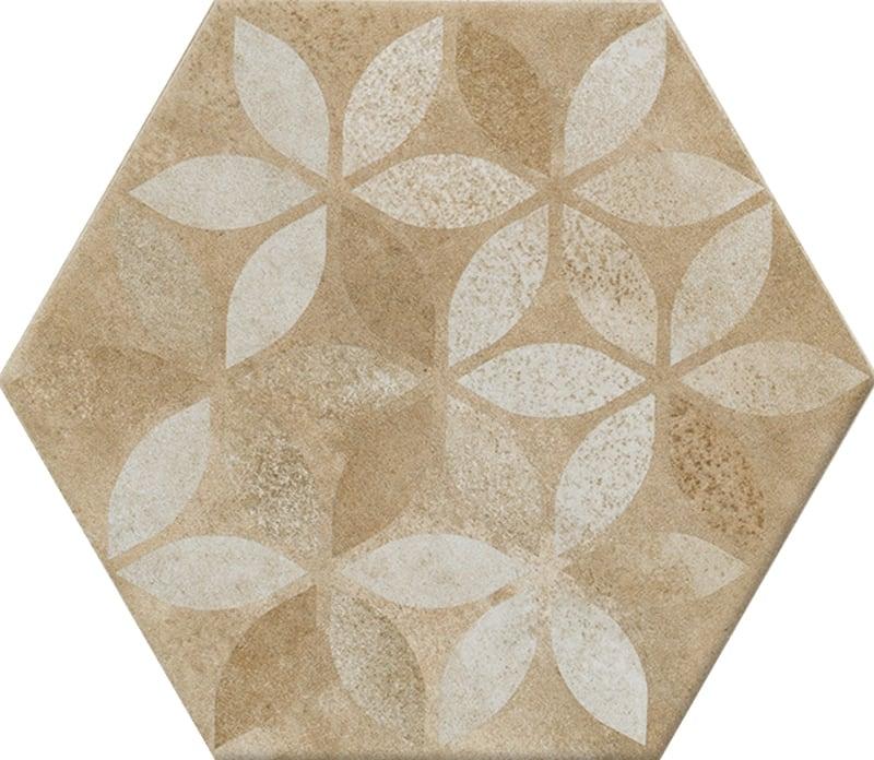 Gạch N23113 lục giác hoạ tiết chiếc lá
