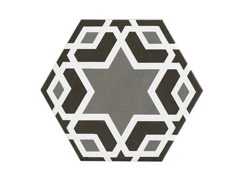 Gạch N23401 lục giác hoạ tiết ngôi sao