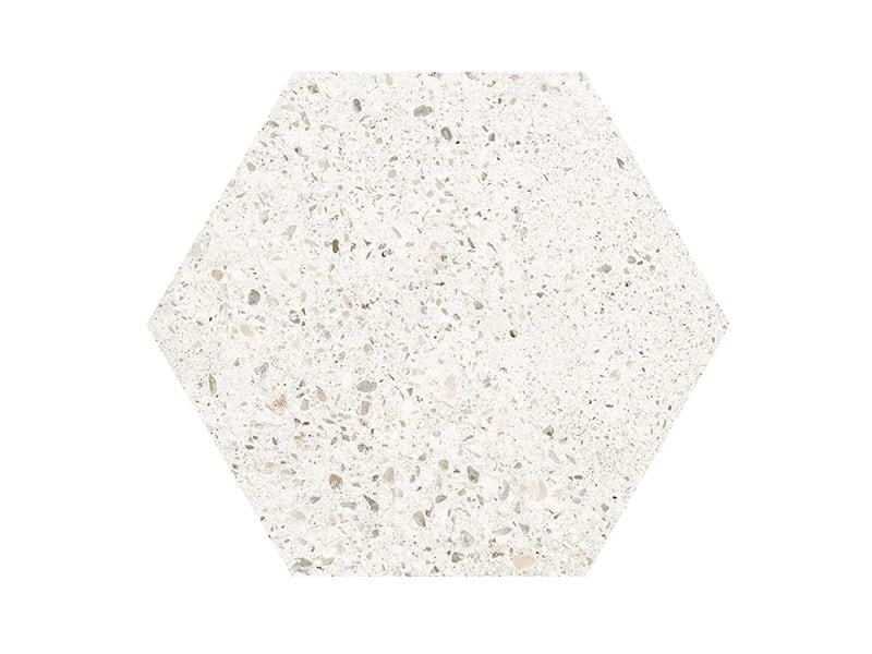Mẫu gạch lục giác Skylight trắng