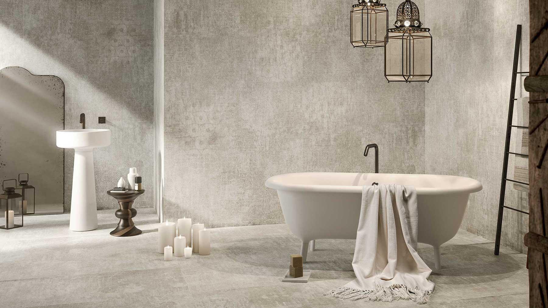 Gạch lát nhà tắm bề mặt nhám (mờ)