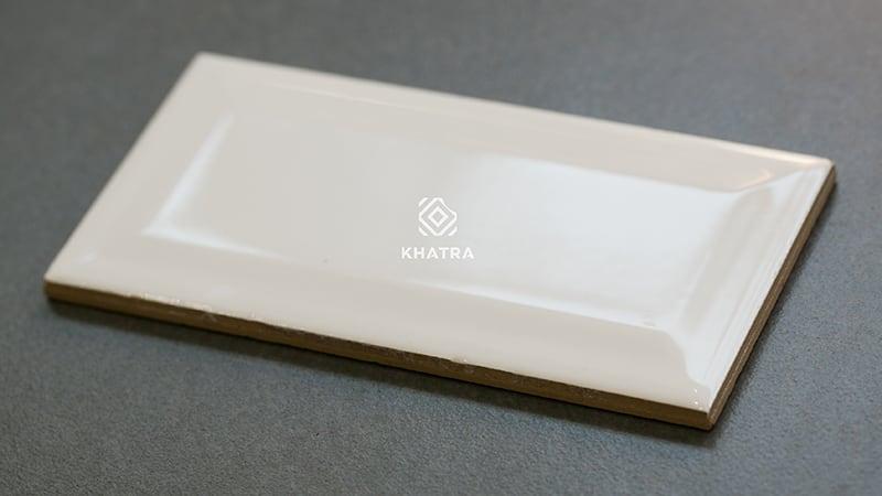 Gạch thẻ Glossy White 75x150