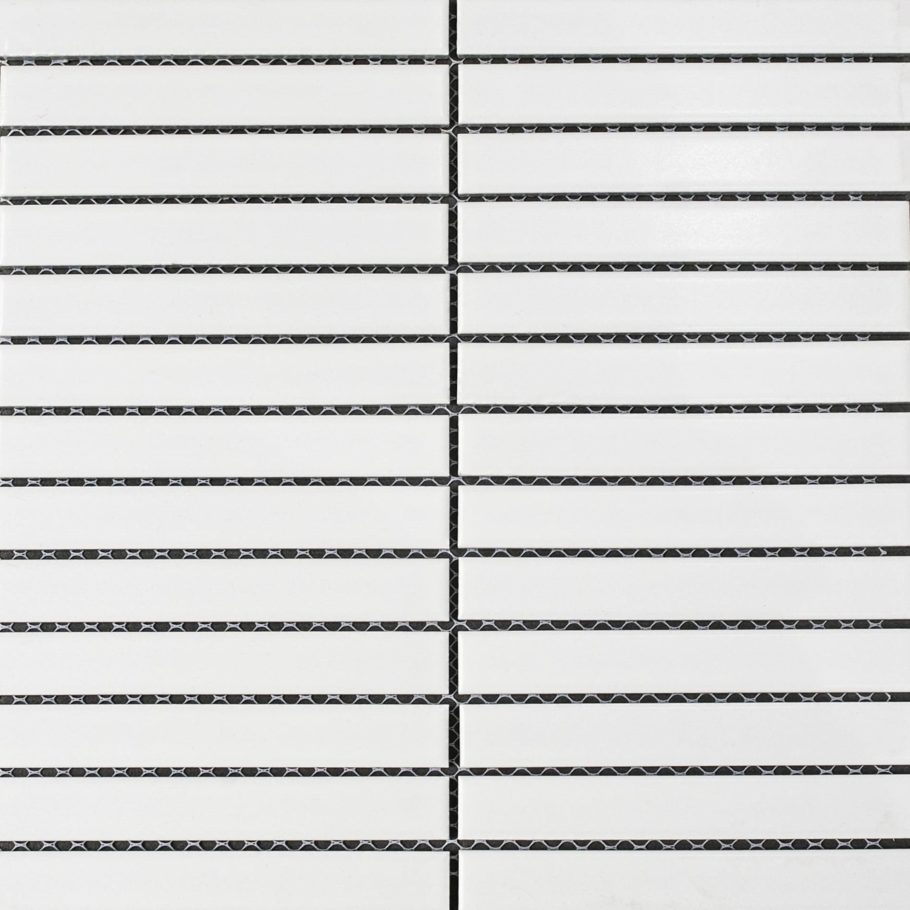 Gạch thẻ Stripes màu White