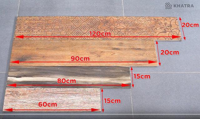 Kích thước gạch giả gỗ hiện nay