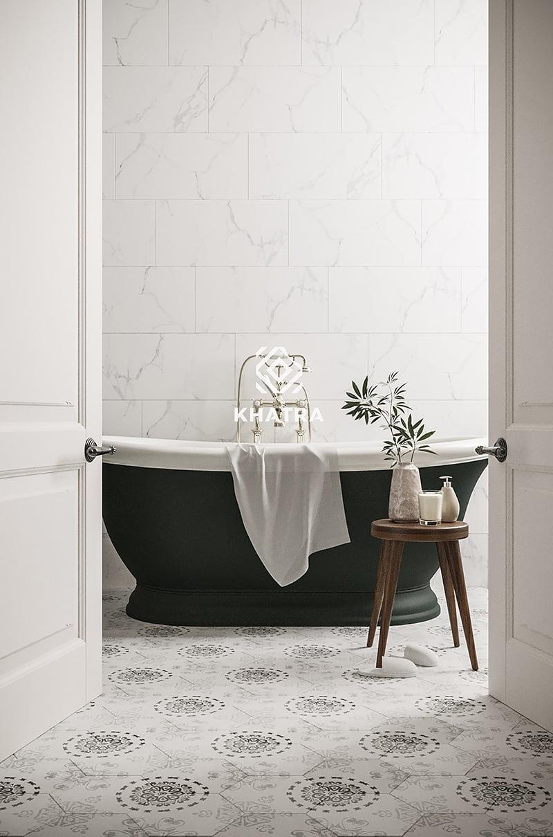 Gạch lục giác FC01 lát nền nhà tắm