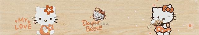 Gạch gỗ Hello Kitty