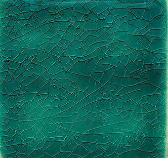 Aquamarine Crackle II handmade tiles