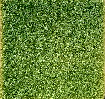Green Crackle I handmade tiles