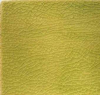 Lime Crackle I handmade tiles