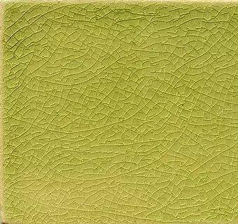 Lime Crackle II handmade tiles