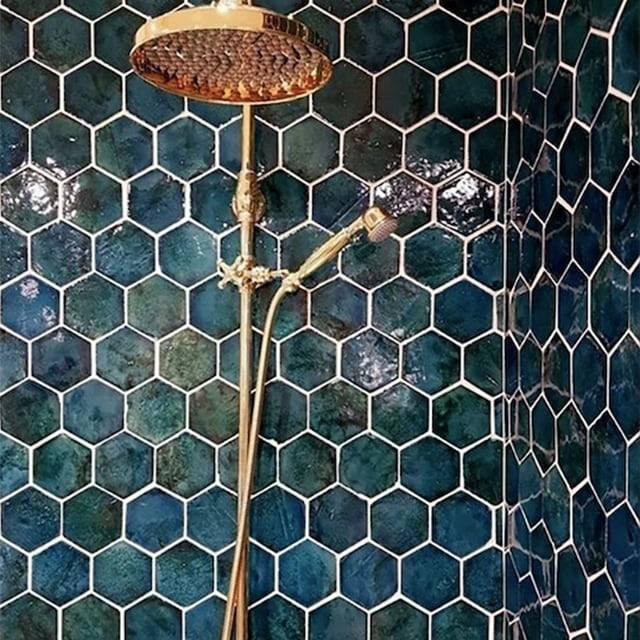 Gạch Mosaic men rạn lục giác