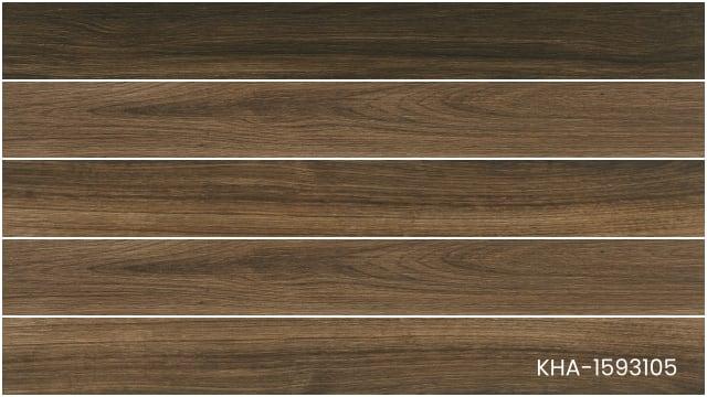Gạch giả gỗ vân nâu đen KHA-1593105