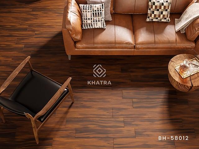 Phối cảnh gạch gỗ 15x80cm BH-58012