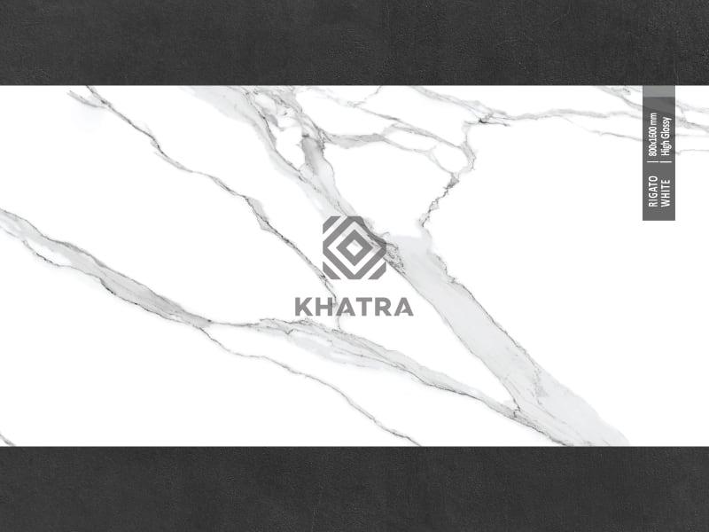 Gạch lát nền Ấn Độ - Rigato White 800x1600