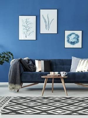 Blue 2020 kết hợp nội thất gỗ