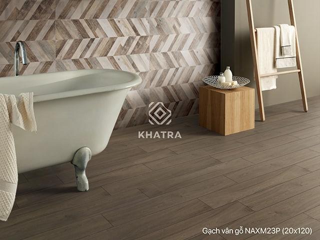Gạch gỗ NAXM23P lát nhà nền nhà tắm