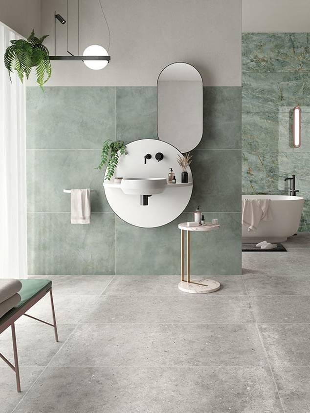 Bộ gạch ốp lát nhà tắm Emerald Green