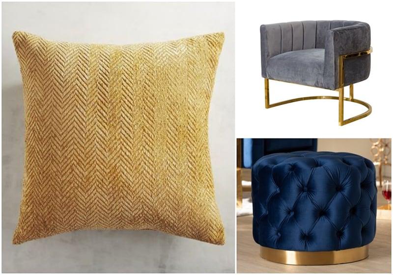 Ứng dụng chất liệu nhung trong thiết kế nội thất