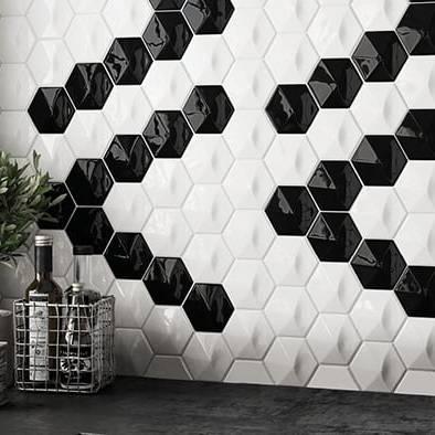 Gạch Mosaic 3D lục giác