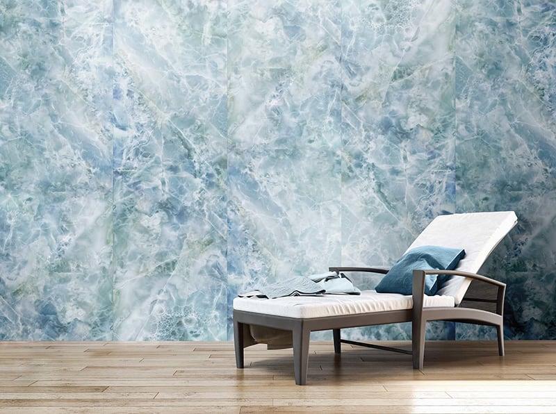 Gạch Big Slab ốp tường màu Carolina vân Marble