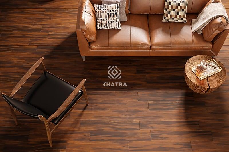 Gạch gỗ kKHA-58012 lát nền phòng khách