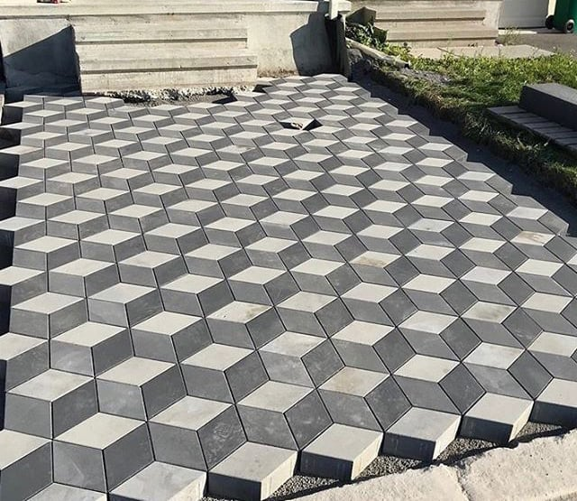 Gạch hình thoi 3D tự chèn