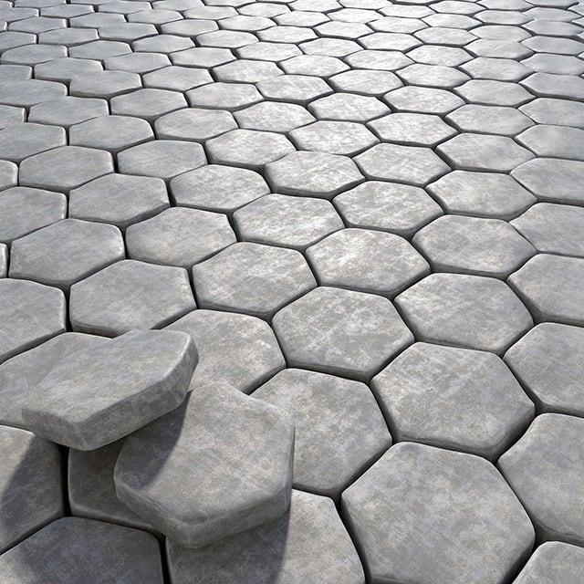 Gạch lục giác bê tông vỉa hè
