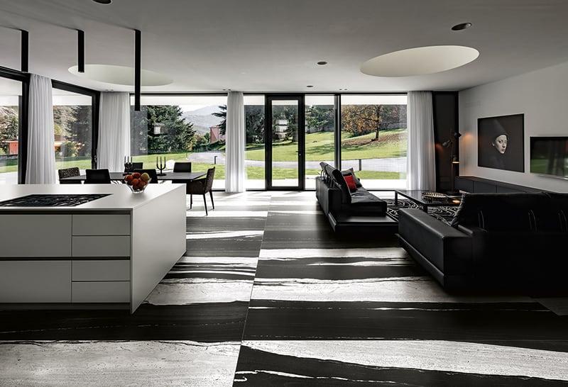 Gạch marble khổ lớn lát phòng khách