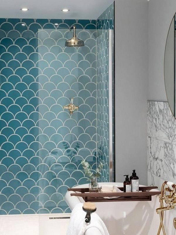 Gạch vảy cá Turkish ốp tường nhà tắm