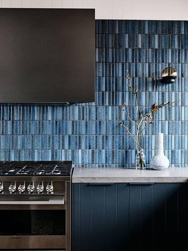 Gạch Mosaic Steel ốp bếp