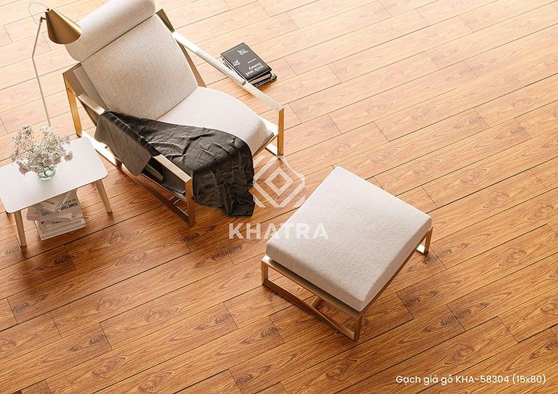Gạch gỗ KHA_58304ED lát nền đẹp