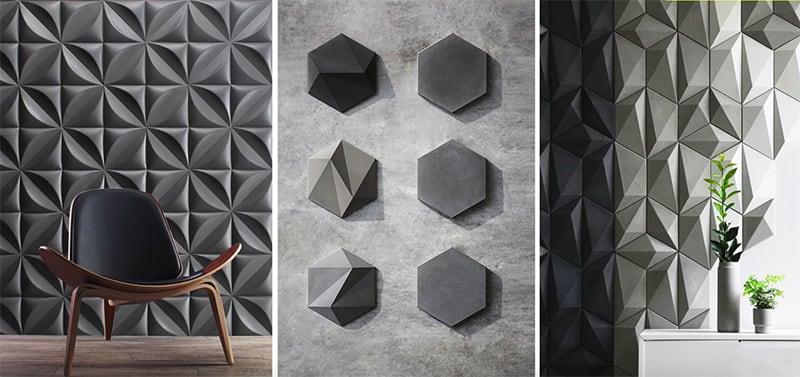 Mẫu gạch ốp tường 3D