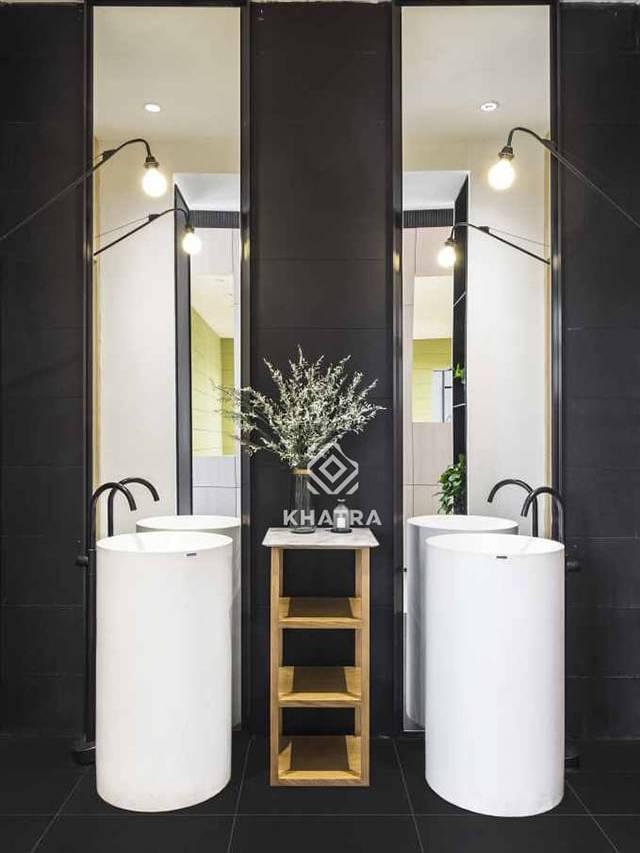 Gạch Super Black ốp tường nhà tắm