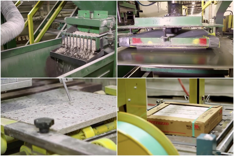 Quy trình sản xuất gạch Terrazzo