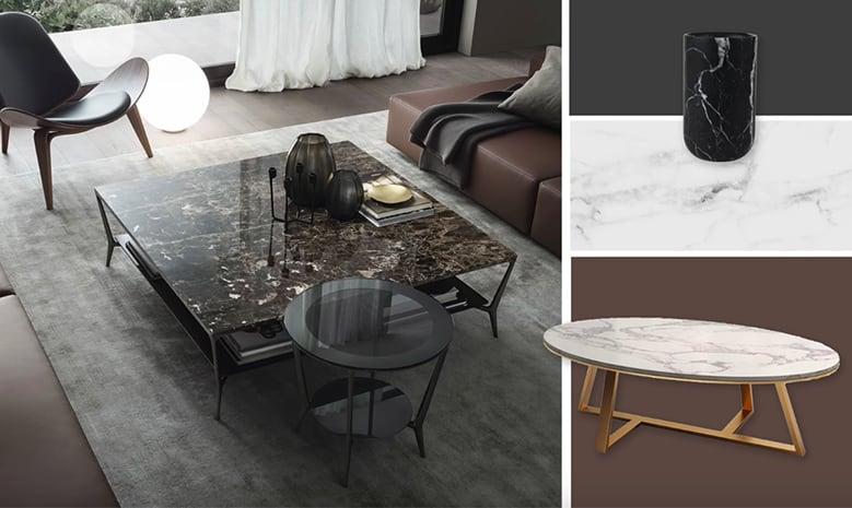 Ứng dụng bề mặt marble trong nội thất