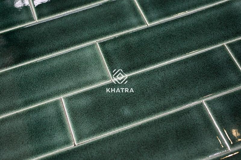 Gạch thẻ men rạn Hunter Green KHA-62005