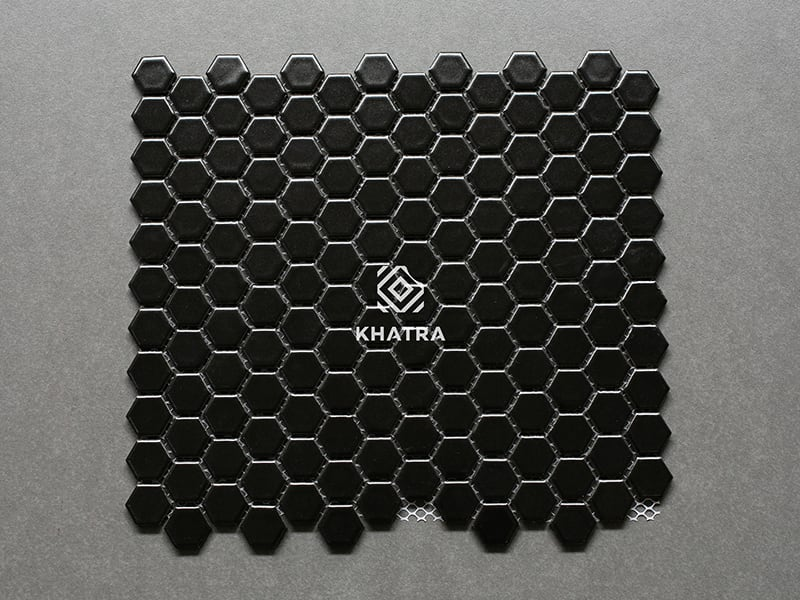 Gạch mosaic lục giác đen KHA-KL1001