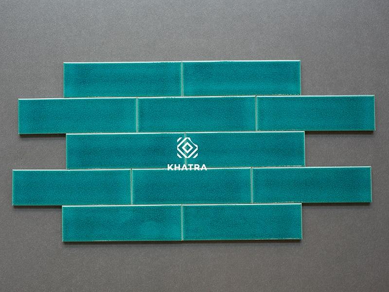 Thẻ men rạn Light Blue 62002