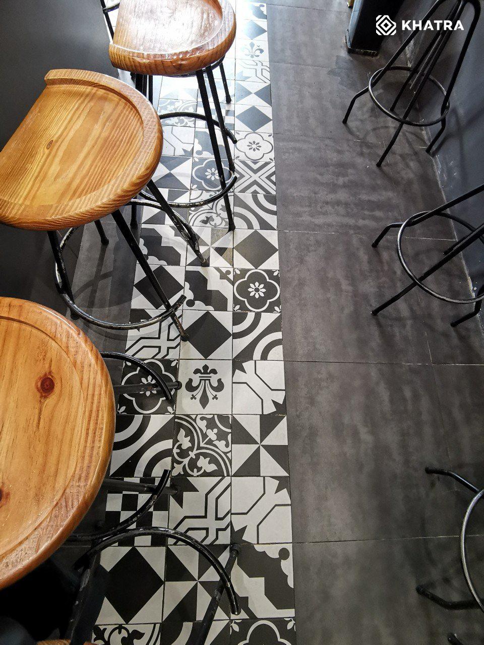 Bông P201 lát nền quán cafe