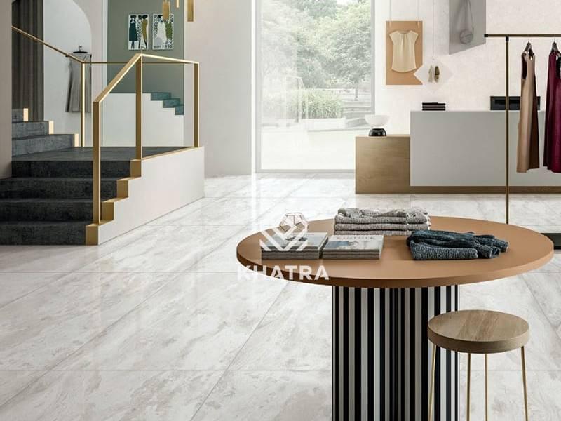 Gạch vân đá KGH12021M lót sàn phòng khách