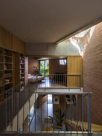 Gạch đất nung thiết kế nội thất phòng sách