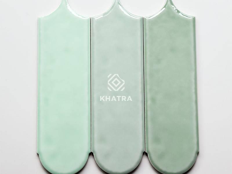 Mẫu gạch lông vũ 90x300 Green Pastel